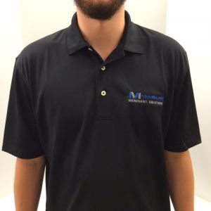 MMS black polo